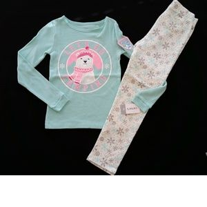 Carter's thermal camping tee & JB glitter leggings